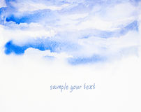 Sky background ' watercolor painted Royalty Free Stock Image