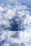 Sky background with white clouds Royalty Free Stock Images