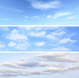 Sky backgrounds set Royalty Free Stock Image