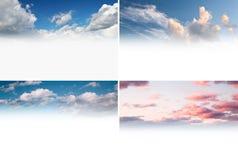 Sky backgrounds set Royalty Free Stock Photos