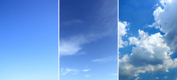 Sky backgrounds set Stock Image