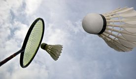 Sky badminton Stock Images