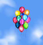 Sky and balloons Stock Image