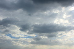 Sky. Sky in Bangkok, during the afternoon at four o'clock in the debris royalty free stock image