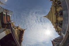 Sky. Bangkok in winter 2014 fish eye Stock Images