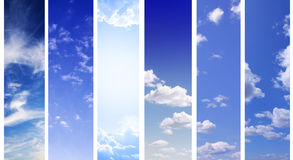 Sky banners Stock Image