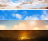Sky banners Stock Photography