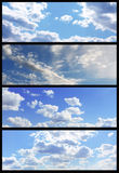 Sky banners collection Stock Photography