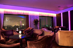 Sky bar. Modern lounge area of sky bar Stock Image