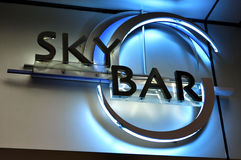 Sky Bar sign Royalty Free Stock Images