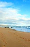 Sky, beach and ocean Stock Image