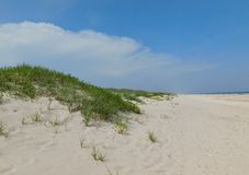 Sky and Beach. This photo was taken at Ocrakoke Island, NC Royalty Free Stock Photography
