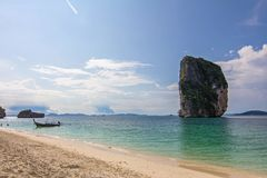 Sky beach poda island krabi thailand Royalty Free Stock Images