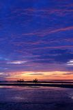 Sky and beach at sunrise, gulf of Thailand. Stock Photo