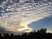 Sky1 south Florida. Beautiful cloud formation at sunset Royalty Free Stock Photos