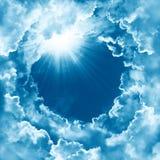 Sky beautiful cloud sunshine. Religion concept heavenly sky background. divine shining heaven, light. Peaceful background. Sky with beautiful cloud and sunshine royalty free stock photos