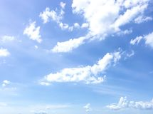 Sky. A beautiful day. The weather is fine Royalty Free Stock Photos