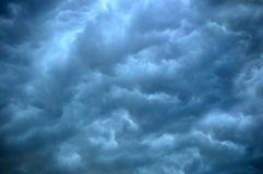 The sky with beautiful storm clouds. The sky with beautiful gray storm clouds royalty free stock photos