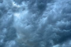 The sky with beautiful storm clouds. The sky with beautiful gray storm clouds stock photos