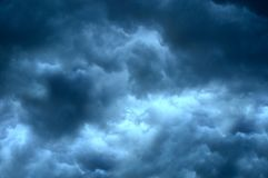 The sky with beautiful storm clouds. The sky with beautiful gray storm clouds stock image