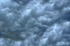 The sky with beautiful storm clouds. The sky with beautiful gray storm clouds stock images