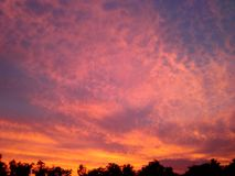 Sky beautiful. Twilight and color impressive Royalty Free Stock Photography
