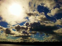 Sky. Beautiful view of the sky above the river Royalty Free Stock Photos