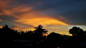 Sky became beautyfull when sunset. God gives us a beauty of nature Royalty Free Stock Images