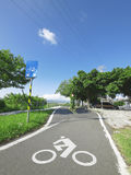 Sky and bicycle way Stock Photography