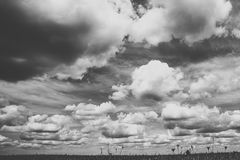 Sky with big clouds Stock Images