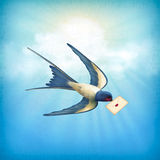 Sky Bird Letter Mail stock illustration