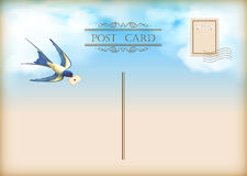 Sky Bird Letter Mail Postcard Stock Photography