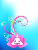 Sky-blå yogabakgrund vektor illustrationer
