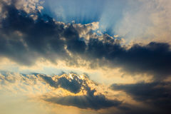 Sky with black Cloud Royalty Free Stock Photography