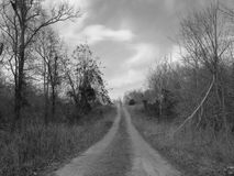 Sky, Black, Road, Black And White Stock Photography