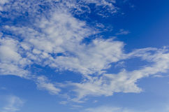 Sky. Blue sky background in the winter royalty free stock photography