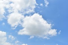 Sky. Blue sky on a beautiful day Royalty Free Stock Photo