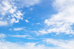 Sky. Blue bky and free form of clouds royalty free stock photography