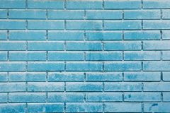 Sky blue brick wall Stock Photo