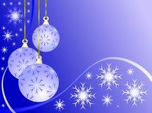 Sky Blue Christmas Baubles Royalty Free Stock Photos