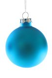 Sky Blue Christmas ornament. Isolated on white background royalty free stock photography