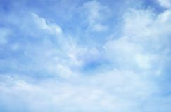 Sky. Blue clean sky with white cloud royalty free stock photo