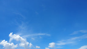 Sky Blue and cloud background has more space Stock Photo