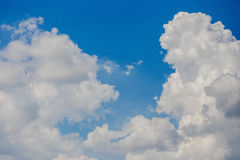 Sky blue with clouds. Sky blue with beautiful white clouds Stock Image