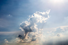 Sky blue with clouds. Sky blue with beautiful white clouds Royalty Free Stock Photo