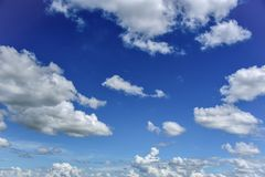 Sky blue and clouds. Sky cloud, beautiful clouds in the blue sky stock photos
