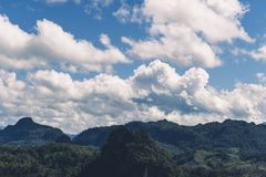 Sky Blue and clouds spring Leaves. Nature stock image