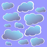 Sky blue clouds vector Royalty Free Stock Images