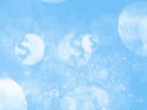 Sky Blue color dollar bokeh background and texture Royalty Free Stock Photos