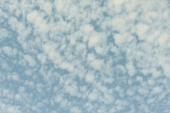 Sky in the blue colors. effect of light pastel colored of sunset clouds cloud on the sunset sky background with a pastel stock photography